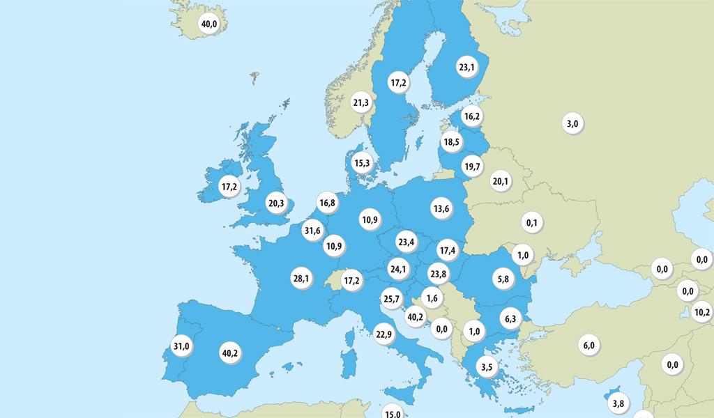 Donorraten i Europa 2015 | Organdonation - ja tak