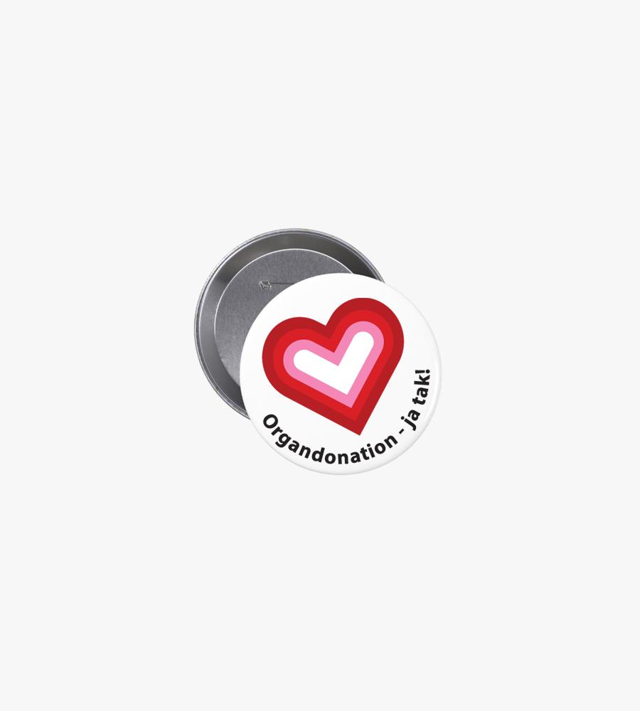 Organdonation - ja tak | Badge 32 mm