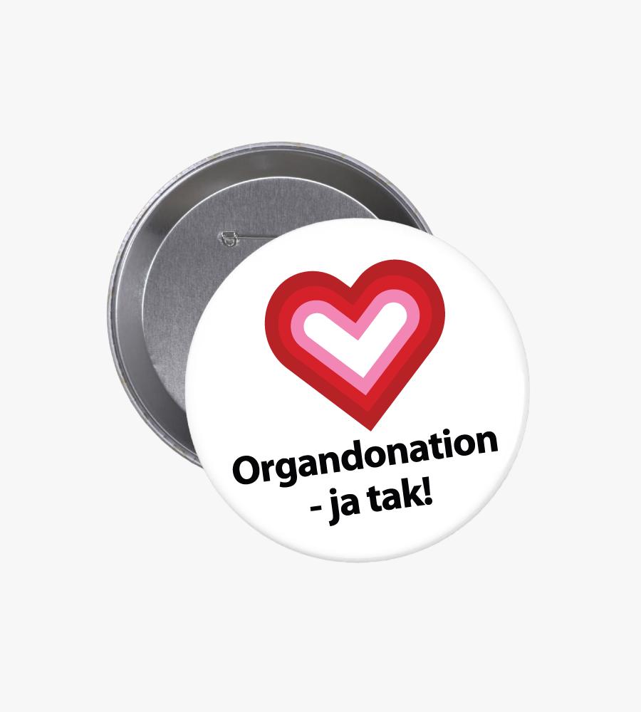 Organdonation - ja tak | Badge 76 mm